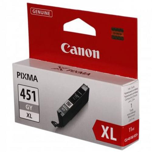 Картридж CANON CLI-451XL GY серый, увеличенной емкости