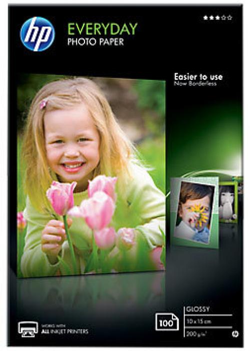 Глянцевая фотобумага HP для повседневного использования — 100 листов/10 x 15 см