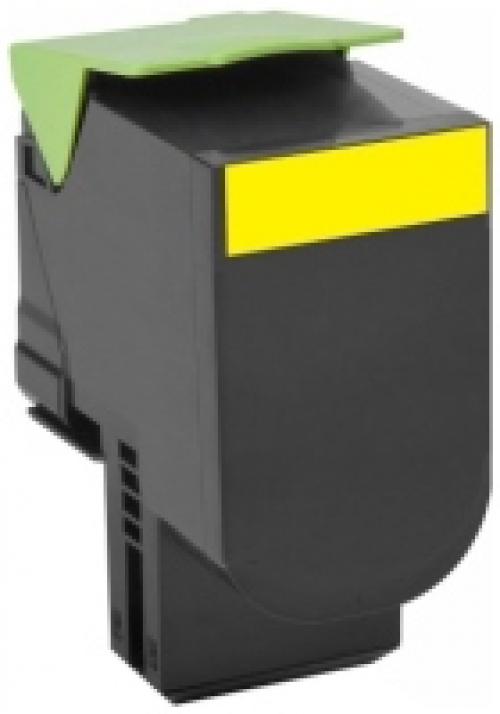 Оригинальный картридж Lexmark 80C8HYE (3000 стр., желтый)