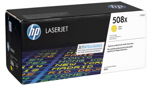 (Уценка)Kартридж HP CF362X - НТВ-1 для Color LaserJet Enterprise M553dn, M553n, M553x  желтый  (9 500 стр.)