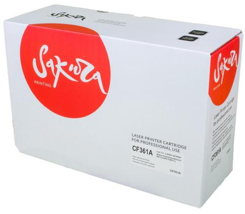 Совместимый картридж SAKURA CF361A (5000 стр., синий)