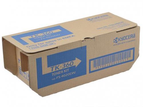 (Уценка)Тонер-картридж 1T02J20EU0 Kyocera TK-360 - НТВ-1 для FS-4020DN  черный  (20 000 стр.)