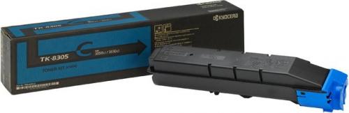 (Уценка)1T02LKCNL0 Тонер-картридж Kyocera TK-8305C - НТВ-1 для TASKalfa3050ci/3550ci  голубой  (15 000 стр.)