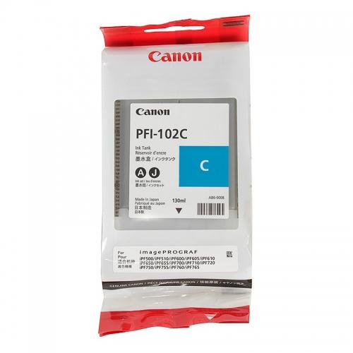 (Акция)Оригинальный струйный картридж Canon PFI-102C