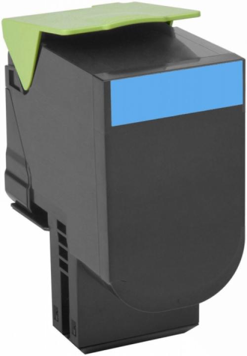 Оригинальный картридж Lexmark 80C8HCE (3000 стр., голубой)