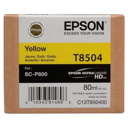 Картридж EPSON T8504 желтый для SC-P800