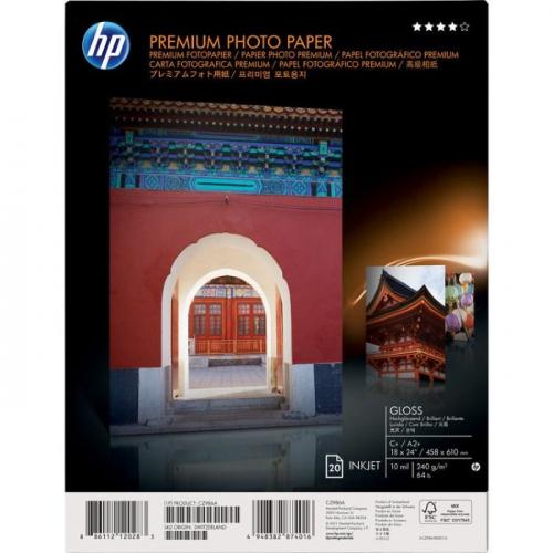 Глянцевая фотобумага НР Premium – 20 листов/A2+/458 x 610 мм 240г/м2
