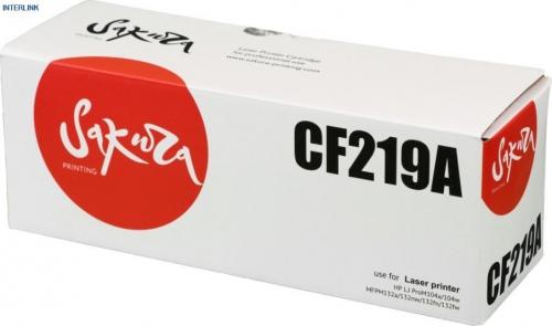 Картридж SAKURA CF219A для HP, черный, 12 000 стр