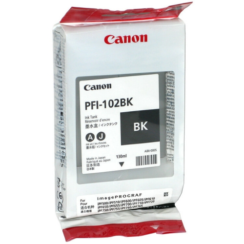 (Акция) Оригинальный картридж CANON PFI-102BK (130 мл., черный)