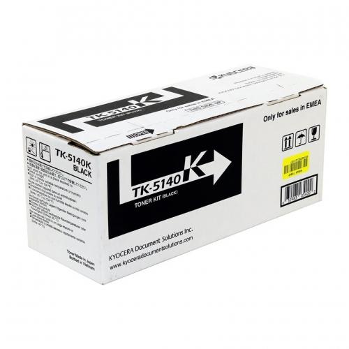 (Уценка)Тонер-картридж Kyocera TK-5140K - НТВ-1 для ECOSYS P6130cdn, M6530cdn  черный  (7 000 стр.)