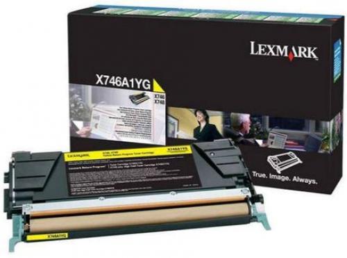 Оригинальный картридж Lexmark X746A1YG (7000 стр., желтый)