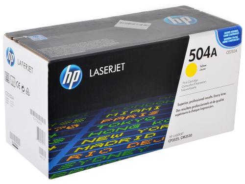 (Уценка)Картридж HP CE252A - НТВ-1 для Color LaserJet CM3530, CP3525  желтый  (7 000 стр.)