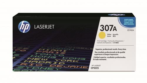 (Уценка)Картридж HP CE742A - НТВ-1 для Color LaserJet CP5225  желтый  (7 300 стр.) оригинальный