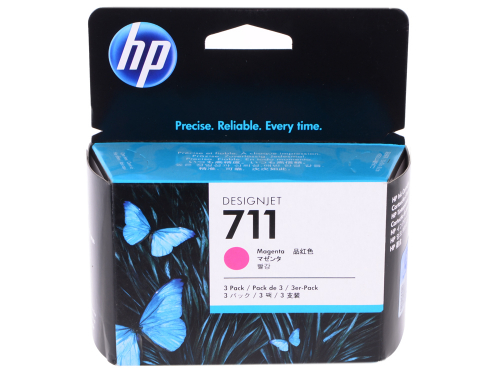 (Уценка)Оригинальный картридж HP CZ135A 3-Pack (711) (29 мл., пурпурный)