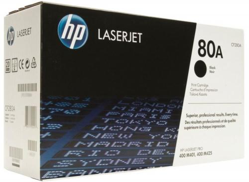 (Уценка)Картридж HP CF280A - НТВ-3 без гал. для LJ Pro M401, MFP M425dn, M425dw  черный  (2 700 стр.) ориг.