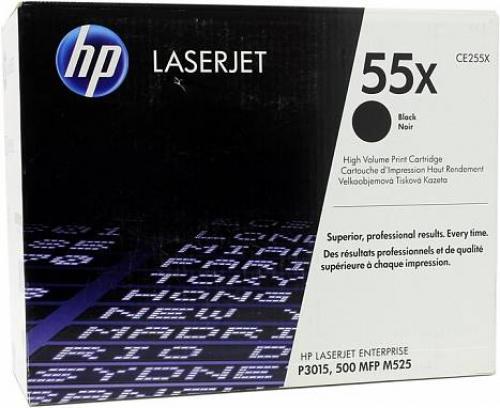 (Уценка)Картридж HP CE255X - НТВ-1 для LaserJet Enterprise 500 M525dn, M525c, P3015  черный  (12 500 стр.)