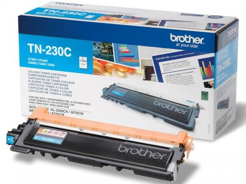 (Уценка) Оригинальный тонер-картридж Brother TN-230C (1400 стр., голубой)