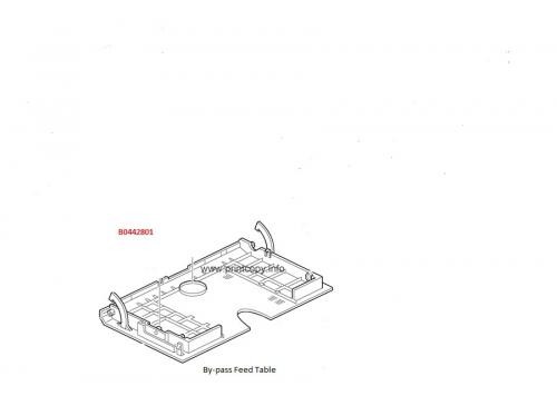 B0442801 Основание лотка обходной подачи Aficio 1013/1515/2013/MP161