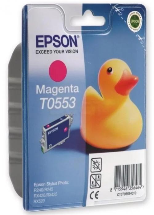 (Акция)Оригинальный струйный картридж EPSON T0553( пурпурный)