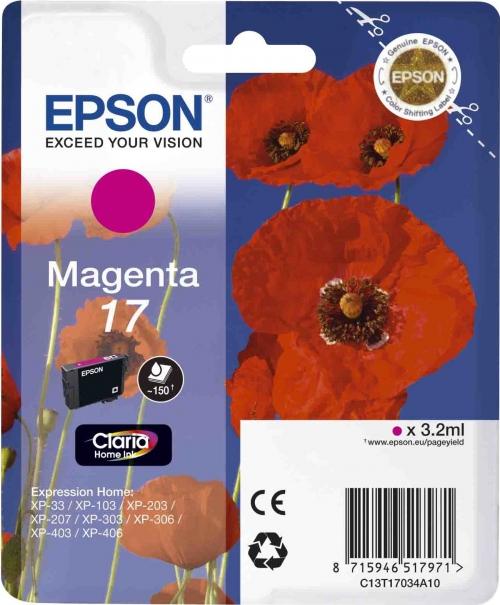 Оригинальный картридж EPSON 17 (150 стр., пурпурный)