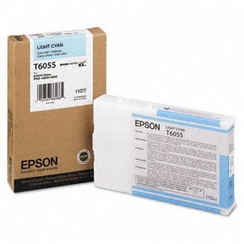 Оригинальный картридж EPSON T6055 (110 мл., светло-голубой)