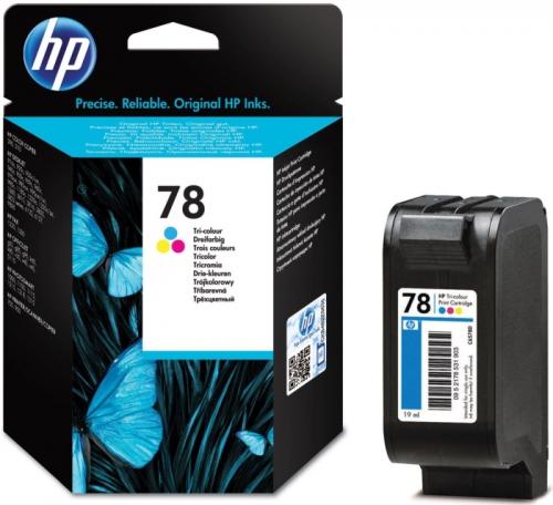 (Акция) Оригинальный картридж HP C6578D (78) (трехцветный, 560 стр.)