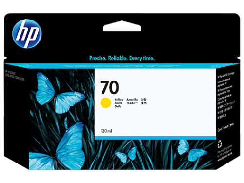 (Акция)Оригинальный картридж HP C9454A (70) (130 мл., желтый)