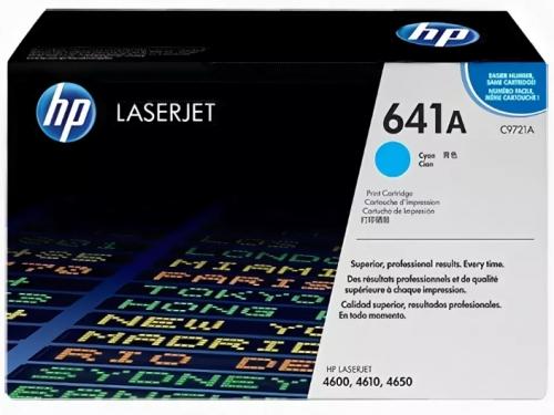 (Уценка) Картридж HP 641A (C9721A) - НТВ-1 для HP Color LaserJet-4600, 4650  голубой  (8 000 стр.)