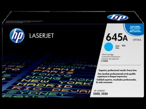 (Уценка) ОРИГИНАЛЬНЫЙ КАРТРИДЖ HP C9731A (12000 СТР., ГОЛУБОЙ) ДЛЯ HP LASERJET 5500 | 5500N | 5500DN | 5550 | 5550N | 5550DN