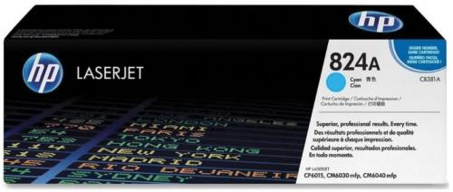 (Уценка) Картридж HP CB381A - НТВ-3 для Color LaserJet CP6015, CM6030, CM6040  голубой  (21 000 стр.)