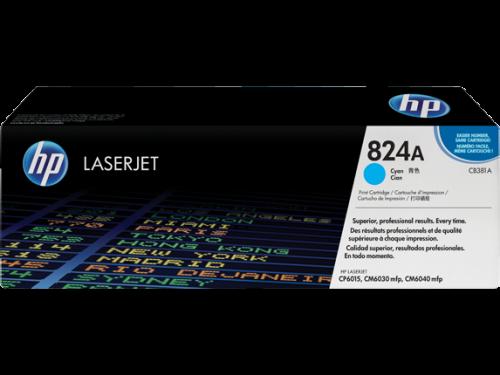 (Уценка) Картридж HP CB381A - НТВ-1 для Color LaserJet CP6015, CM6030, CM6040  голубой  (21 000 стр.)