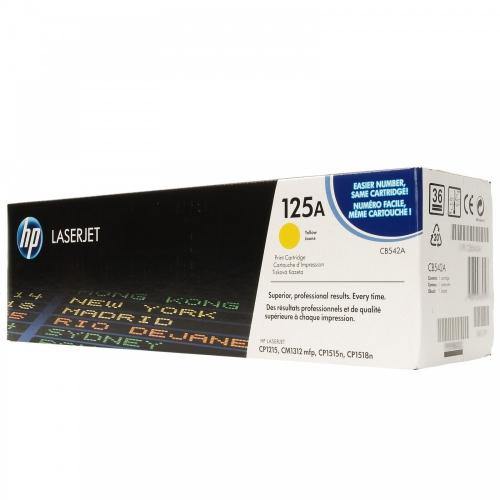 (Уценка)Картридж HP 125A (CB542A - НТВ-1) для Color LaserJet CP1215, CM1312  желтый  (1 400 стр.)