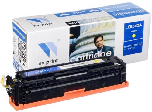 (Уценка) Картридж HP 125A CB542A - НТВ-1 для Color LaserJet CP1215, CM1312  желтый  (1 400 стр.)