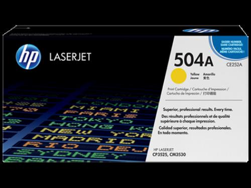 (Уценка) ОРИГИНАЛЬНЫЙ КАРТРИДЖ HP CE252A (7000 СТР., ЖЁЛТЫЙ) ДЛЯ ?HP COLOR LASERJET CM3530 / CP3525