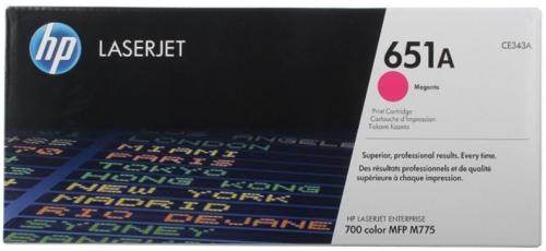 (Уценка) Kартридж HP CE343A - НТВ-1 для LaserJet 700 color MFP M775dn, M775f, M775z  пурпурный  (13 500 стр.)