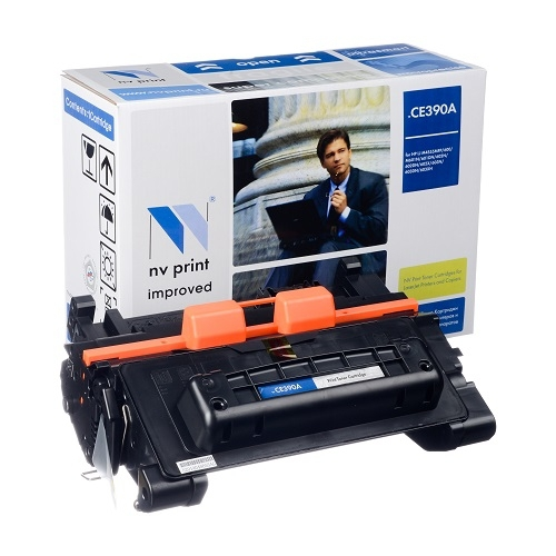 Совместимый картридж NV Print для HP CE390A (10000 стр., черный)