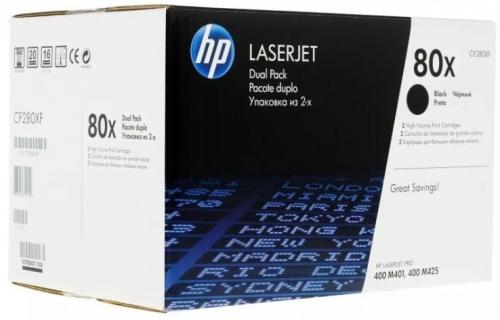 (Уценка) Картридж HP 80X CF280XD/XF - НТВ-2 для LaserJet Pro M401,MFP M425 Twin Pack  черный  (2 * 6 900 стр.