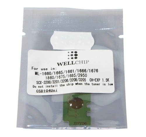 (Уценка)Чип Samsung ML1660/1661/1665/1666/1043/3201/3218 (MLT-D104) 1.5K (ELP, Китай)