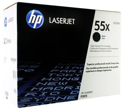 (Уценка) Картридж HP CE255XC для LaserJet Enterprise 500 M525dn, M525c, P3015  черный  (12 500 стр.)