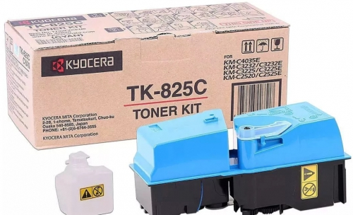 (Уценка)Тонер-картридж Kyocera TK-825C - НТВ-1 для KM C2520/C2525E/3225/3232 синий (7 000 стр.)