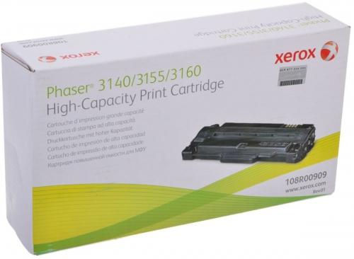 (Уценка)Тонер-картридж Xerox 108R00909 - НТВ-1 для PHASER 3140/55/60  черный  (2 500 стр.)