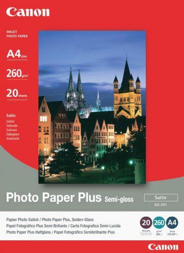 Фотобумага CANON Полуглянцевая, 260г/м2, A4(21X29) 20 л.