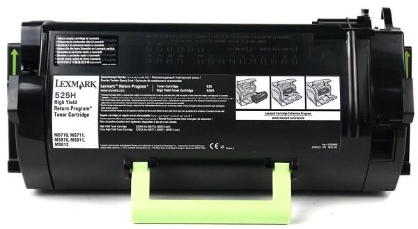 ОРИГИНАЛЬНЫЙ КАРТРИДЖ Lexmark 52D5H0E (25000 СТР., Черный) ДЛЯ Lexmark MS810, MS811, MS812