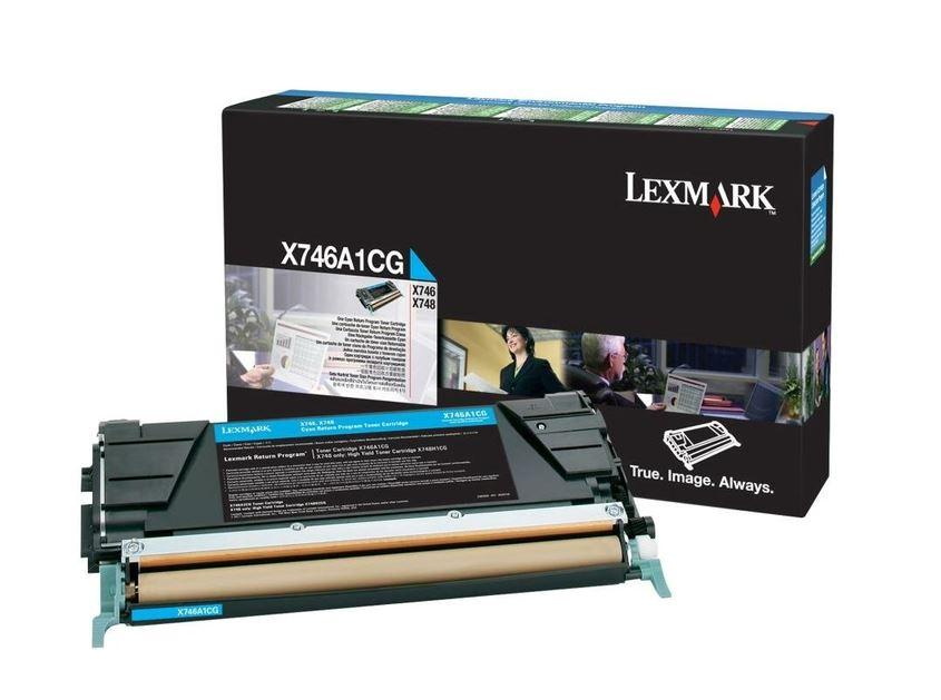 Оригинальный картридж Lexmark X746A1CG (7000 стр., голубой)