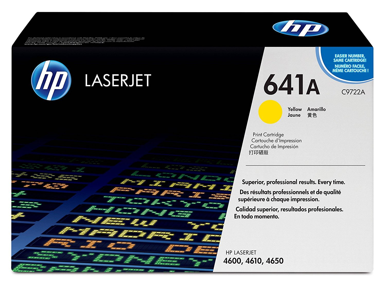 (Уценка) Картридж HP 641A (C9722A) - НТВ-1 для HP Color LaserJet-4600, 4650 желтый (8 000 стр.)