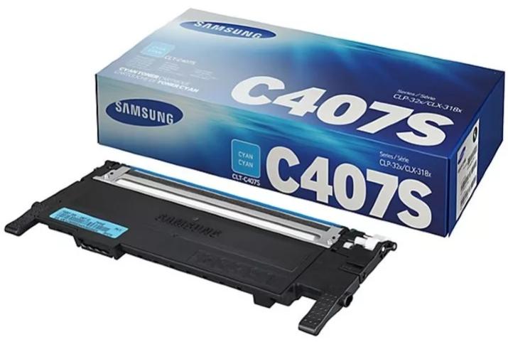 Картридж лазерный Samsung CLT-C407S(1000 стр., голубой)