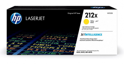 Оригинальный картридж HP 212X повышенной емкости (10000 стр., желтый)