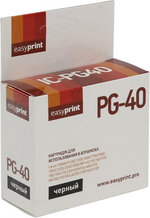 Картридж EasyPrint Canon PG-40 (IC-PG40) (195 стр., черный)