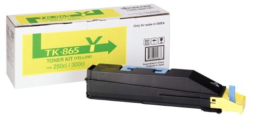 (Уценка)Тонер-картридж Kyocera TK-865Y - НТВ-1 для TASKalfa 250ci/300ci  желтый  (12 000 стр.)