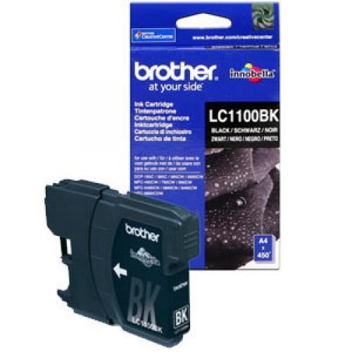 Оригинальный картридж BROTHER LC1100BK (450 стр., черный)